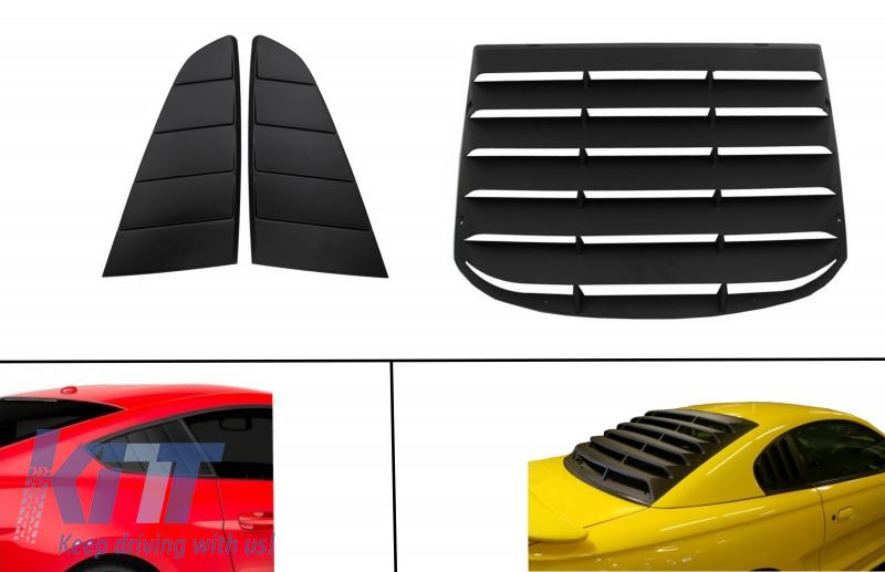 Classic Quarter Side Window Louvers FORD Mustang Mk6 VI Sixth G